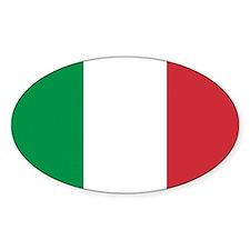 Italian Flag Oval Decal