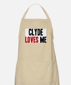 Clyde loves me BBQ Apron