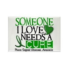 Needs A Cure GLAUCOMA Rectangle Magnet