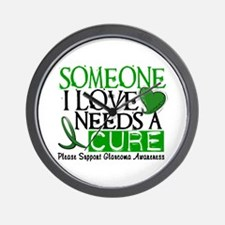 Needs A Cure GLAUCOMA Wall Clock