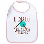 I Knit - Therefore I Rock Bib