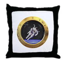 Space Porthole Throw Pillow