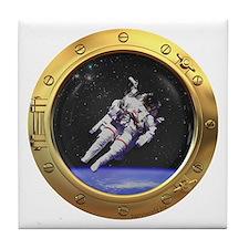 Space Porthole Tile Coaster