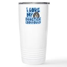 I Love my Bluetick Coonhound Travel Mug