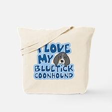 I Love my Bluetick Coonhound Tote Bag