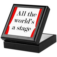 World's a Stage Keepsake Box