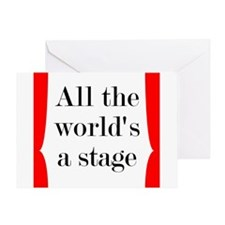 World's a Stage Greeting Card