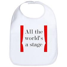 World's a Stage Bib