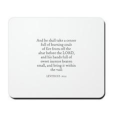 LEVITICUS  16:12 Mousepad