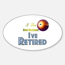 'I See New Horizons. Oval Decal
