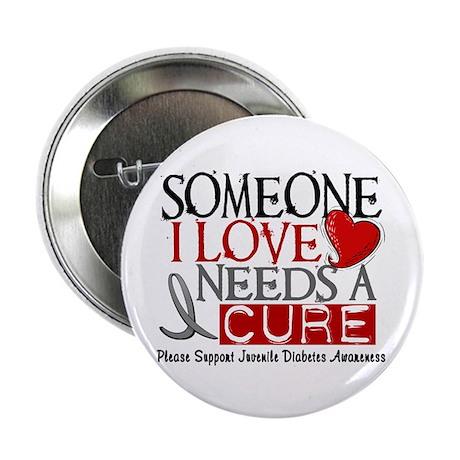 """Needs A Cure JUVENILE DIABETES 2.25"""" Button"""