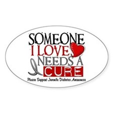 Needs A Cure JUVENILE DIABETES Oval Decal