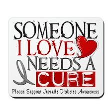 Needs A Cure JUVENILE DIABETES Mousepad