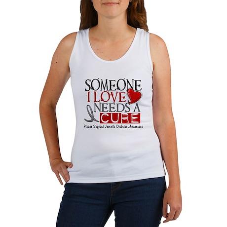 Needs A Cure JUVENILE DIABETES Women's Tank Top