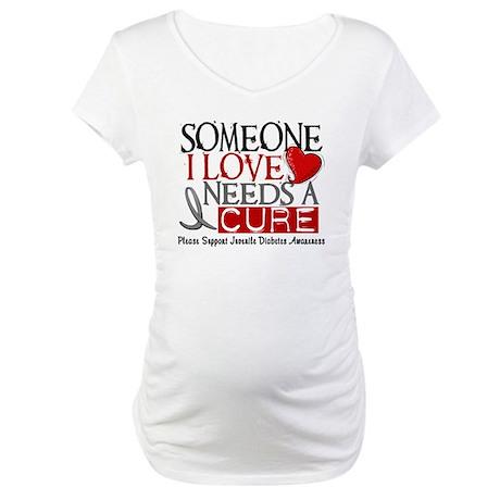 Needs A Cure JUVENILE DIABETES Maternity T-Shirt