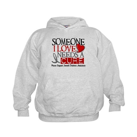 Needs A Cure JUVENILE DIABETES Kids Hoodie