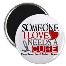 "Needs A Cure JUVENILE DIABETES 2.25"" Magnet (10 pa"