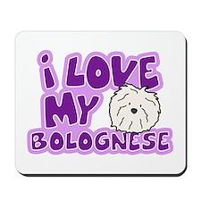 I Love my Bolognese Mousepad