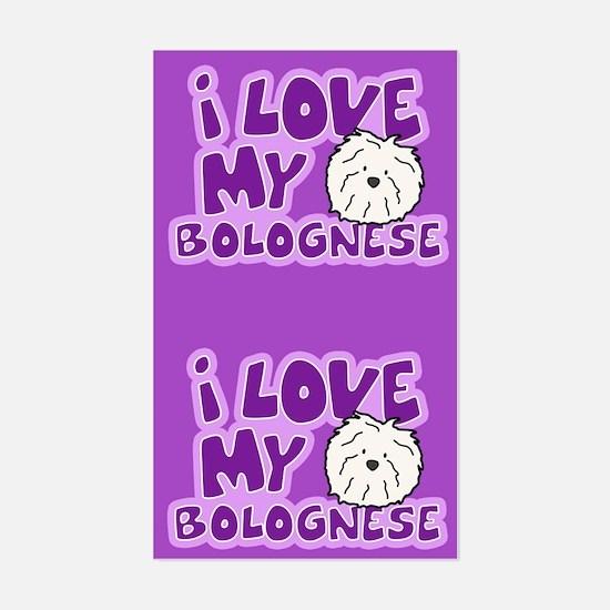 I Love my Bolognese Sticker (Cartoon)