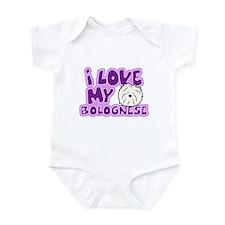 I Love my Bolognese Infant Bodysuit