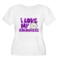 I Love my Bolognese Women's Plus Size TShirt