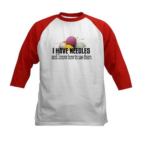 Knitting Needles Kids Baseball Jersey
