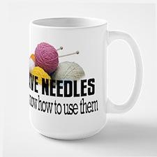 Knitting Needles Large Mug