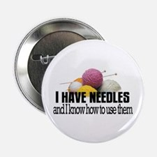 "Knitting Needles 2.25"" Button"