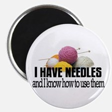 Knitting Needles Magnet