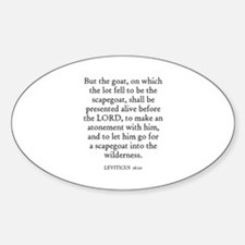 LEVITICUS 16:10 Oval Decal