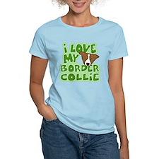 Love my Brown Border Collie T-Shirt