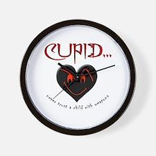 Don't Trust Cupid Wall Clock