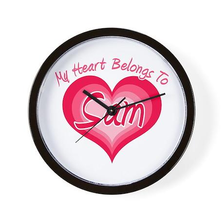 I Heart Sam Wall Clock