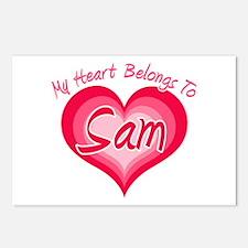 I Heart Sam Postcards (Package of 8)