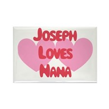 Joseph Loves Nana Rectangle Magnet