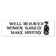 Women Change History Bumper Stickers
