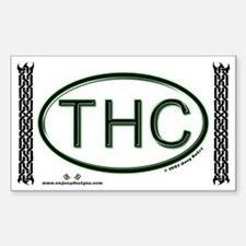THC - Rectangle Decal