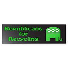 Republicans green recycling bumper sticker