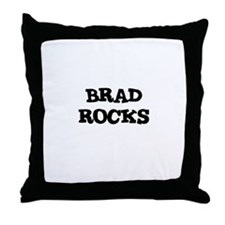 BRAD ROCKS Throw Pillow