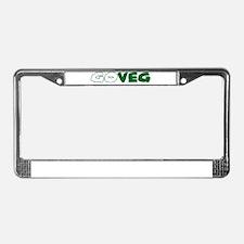 GoVeg - Go Vegetarian License Plate Frame