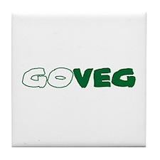 GoVeg - Go Vegetarian Tile Coaster
