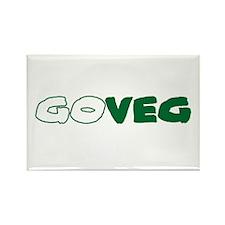 GoVeg - Go Vegetarian Rectangle Magnet