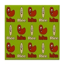 Red Beans and Rice Poster 1 Tile Coaster