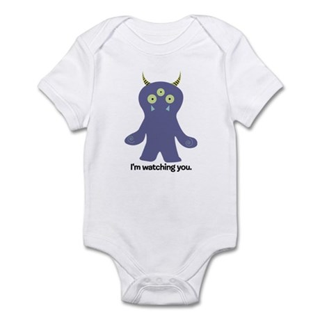 Playnormous Watching Monster Mini Infant Bodysuit