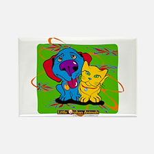 Cute Blue cat Rectangle Magnet