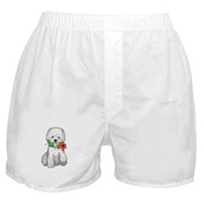 Westie with Flower Boxer Shorts