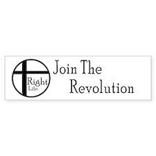 Join The Revolution Bumper Bumper Sticker