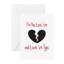 Love 'em and Leave 'em Greeting Cards (Pk of 20)