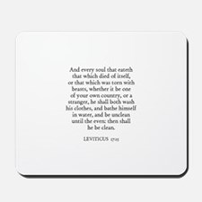 LEVITICUS  17:15 Mousepad