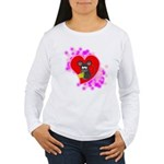 3D Mousey Valentine Women's Long Sleeve T-Shirt